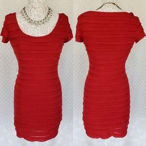 Max Studio Red Bodycon Dress